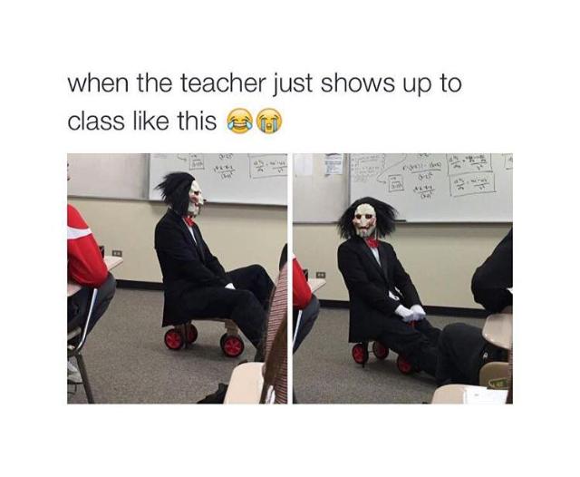 Halloween teacher - meme