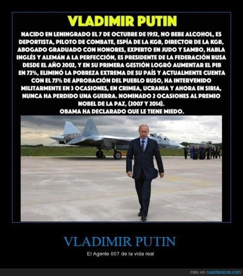 Valdimir Putin, el mejor presidente del mundo - meme