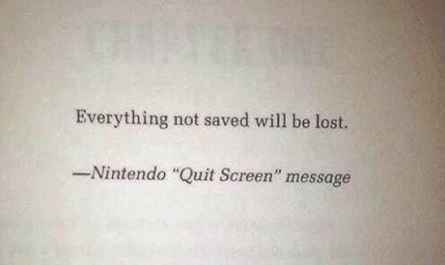 Tudo não salvo será perdido - meme
