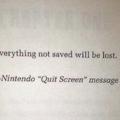 Tudo não salvo será perdido