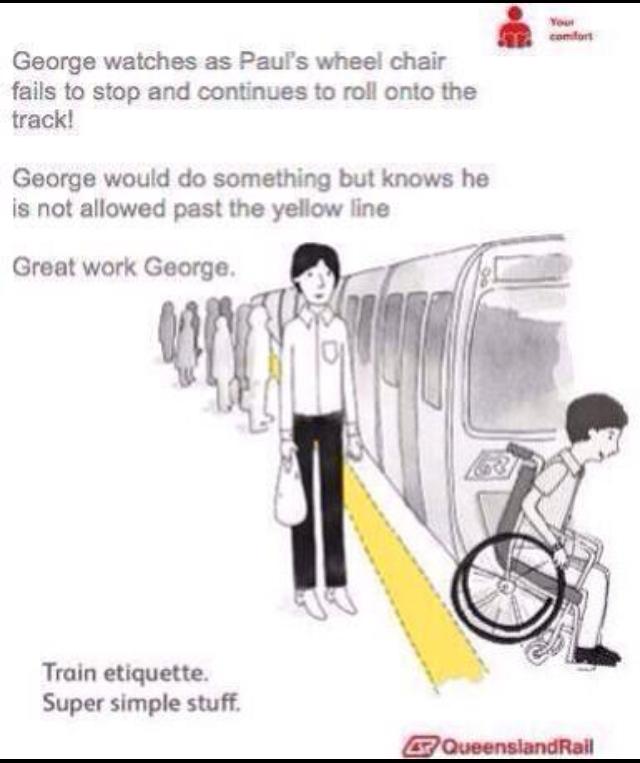 Train etiquettes - meme