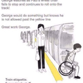Train etiquettes