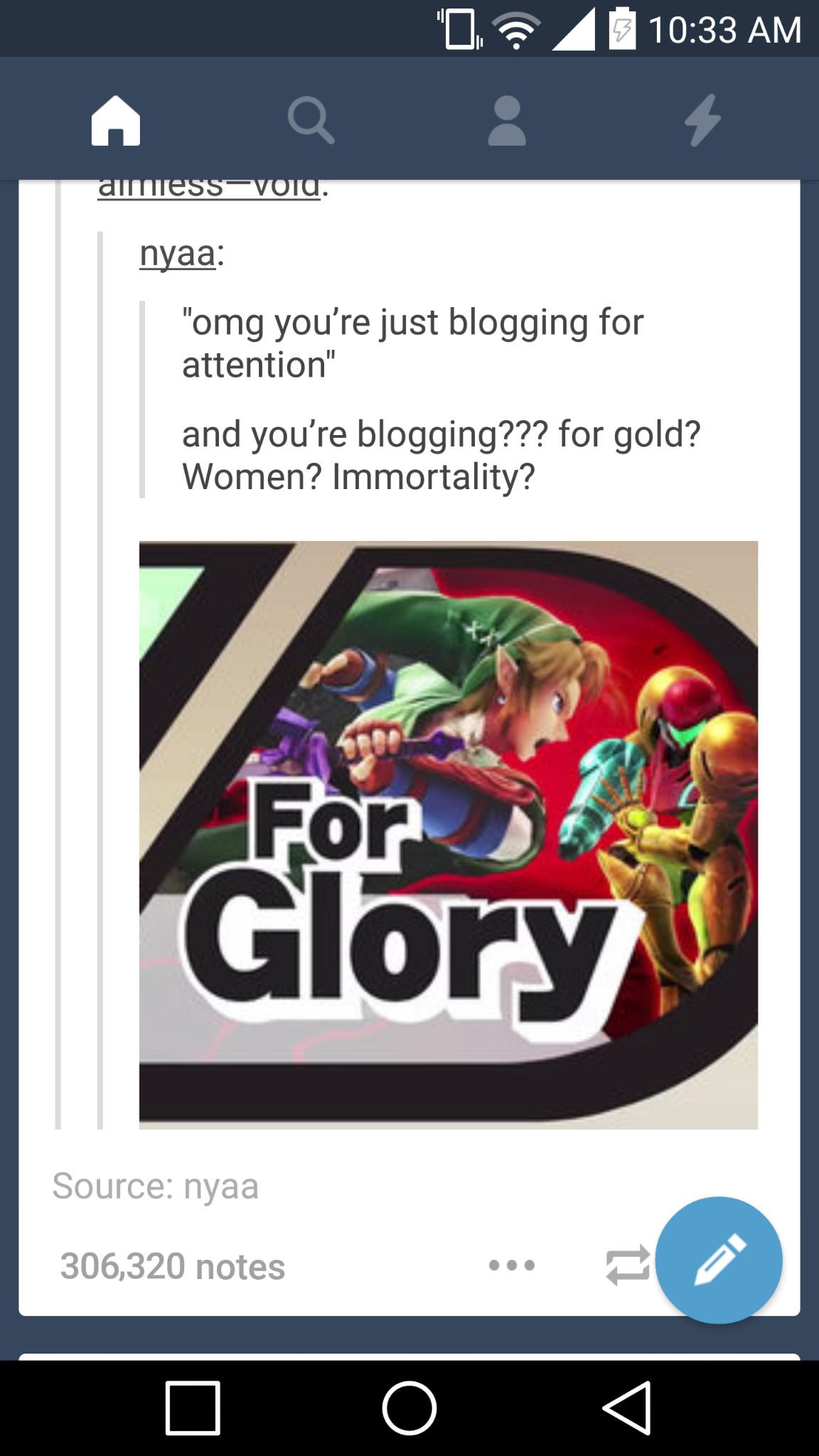 for glory - meme