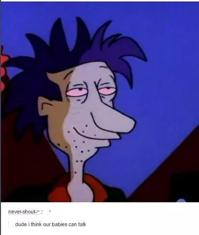 Chuckie was my favorite Rugrat - meme