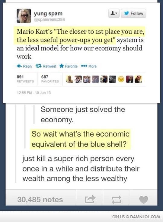 Mario kart economics - meme