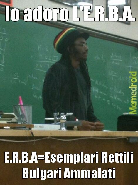 Tutti adorano L'E.R.B.A! - meme