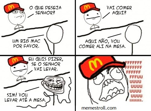 Troll do mc donald's - meme