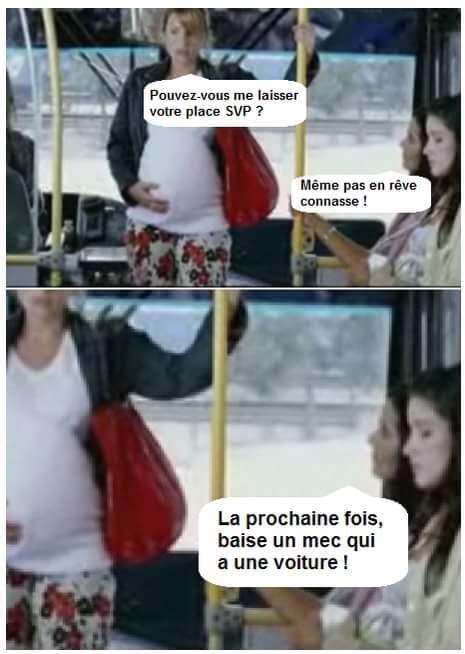 Les femmes enceintes dans le bus, elles doivent payer deux tickets? - meme