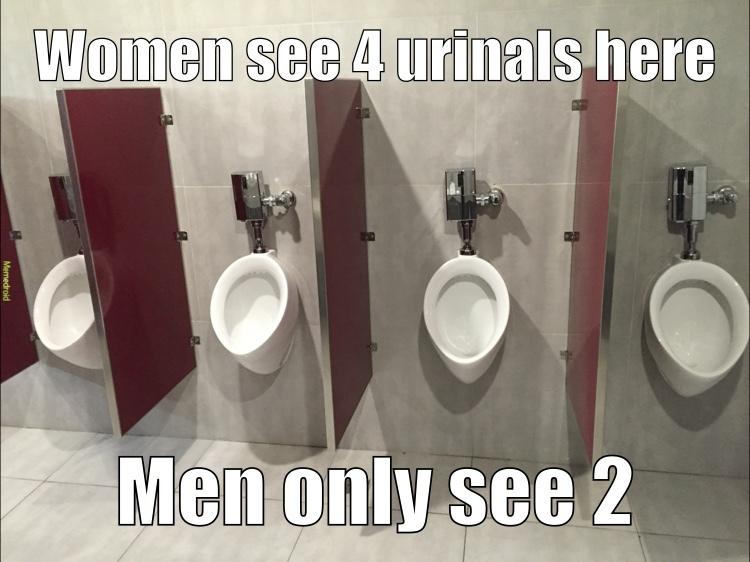 the truth about men's restrooms - meme