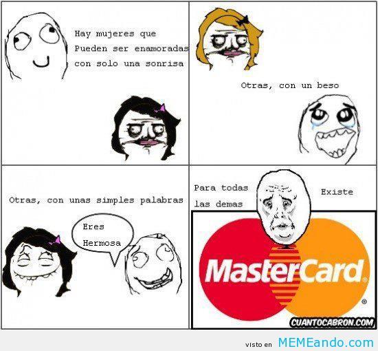 El amor mastercard - meme