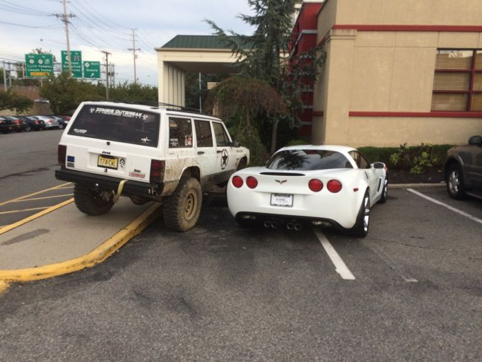 one of many images if you google Douchebag Parking Jobs - meme