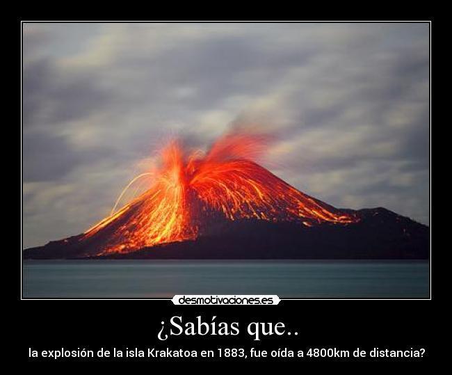 Se escucho hasta africa, y el volcan estaba en indonesia - meme