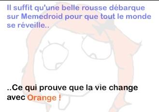 La vie change avec orange - meme
