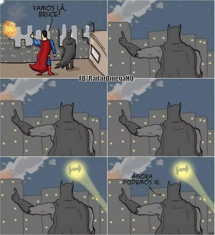 Batman > Superman - meme