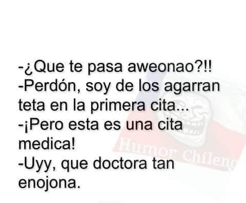 soy admi de humor chileno, pa que no webeen - meme