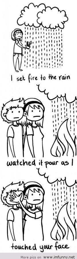 Literal flaming water - meme