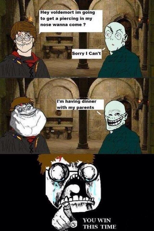 Harry and Voldemort - meme