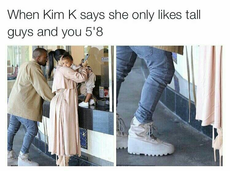 The struggle to be taller than women is real - meme