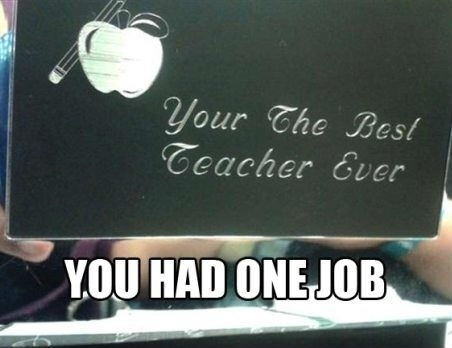 ONE JOB!! - meme