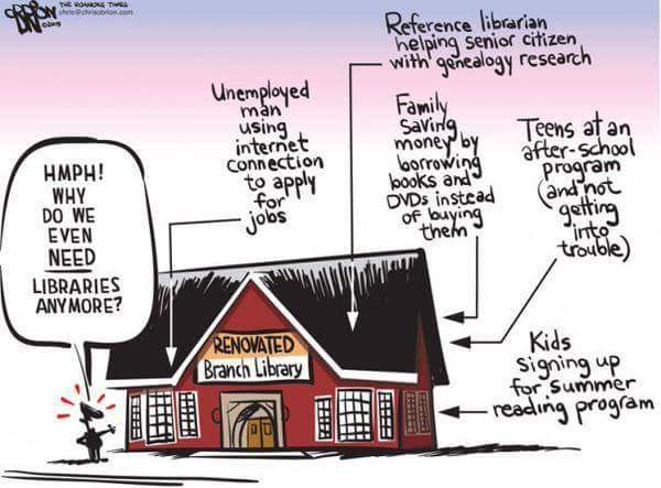 Save the libraries - meme