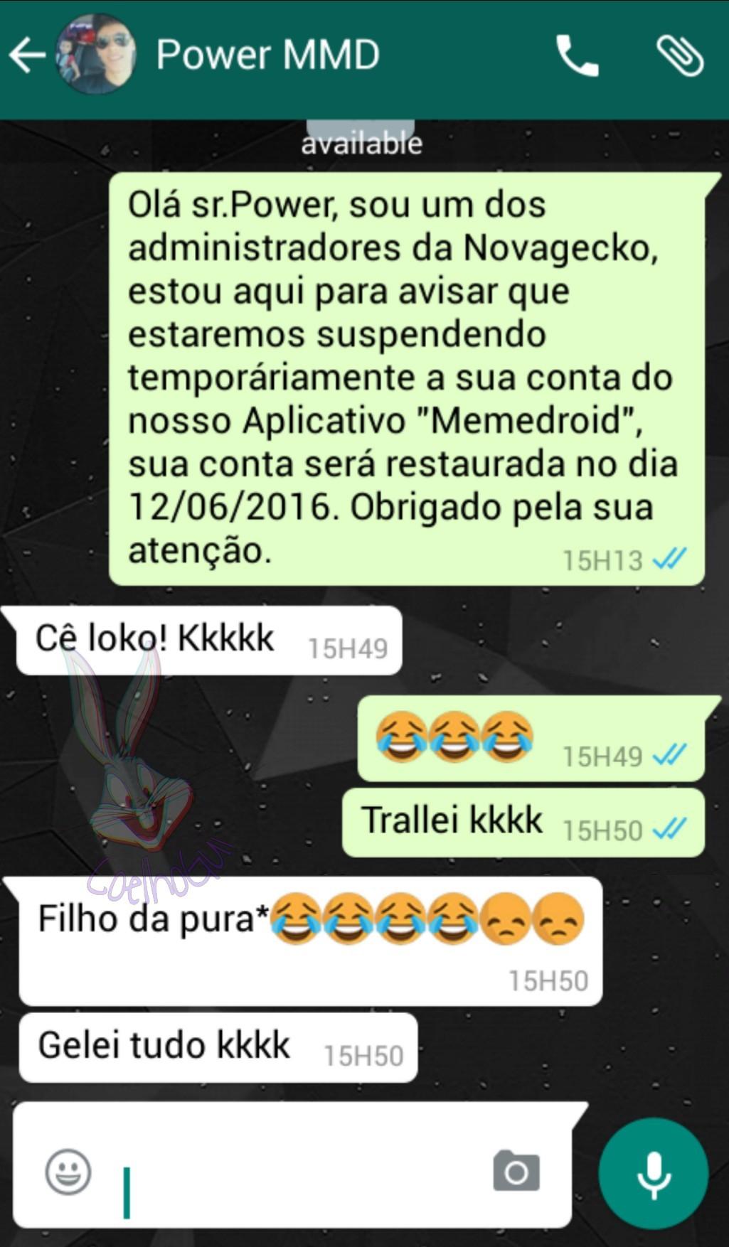 TROLLANDO USUÁRIOS DO MMD #2 Primeiro a ser trollado kkkk (Power_guido) - meme