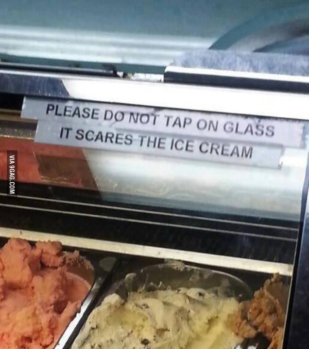 coitado do sorvete :c - meme