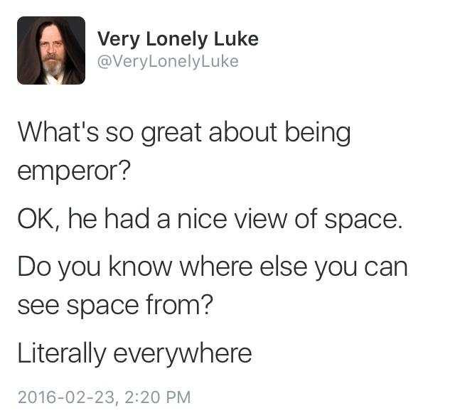 very lonely Luke - meme