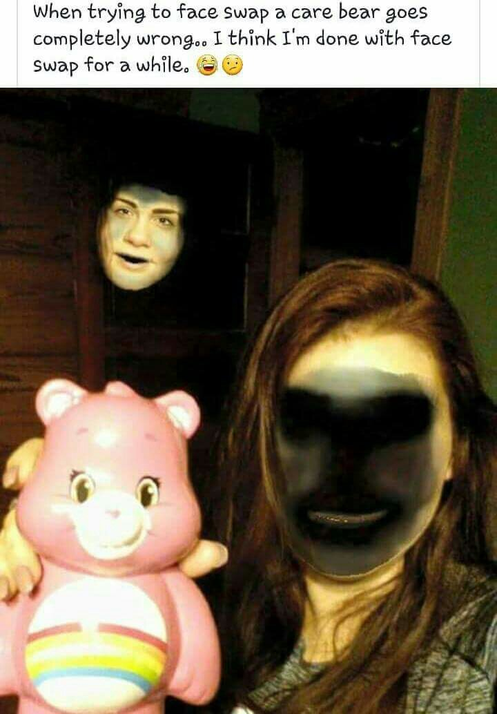 Never faceswapping again holy shit - meme