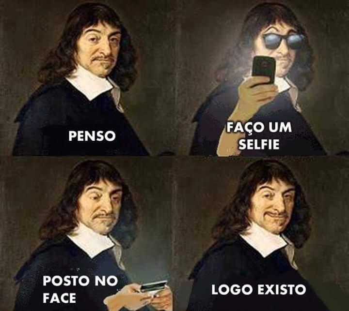 Descartes descartável - meme