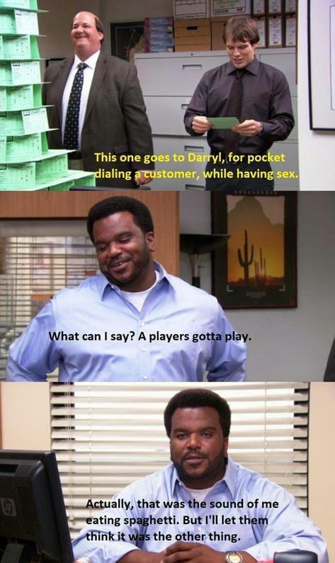 Darryl is a legend - meme