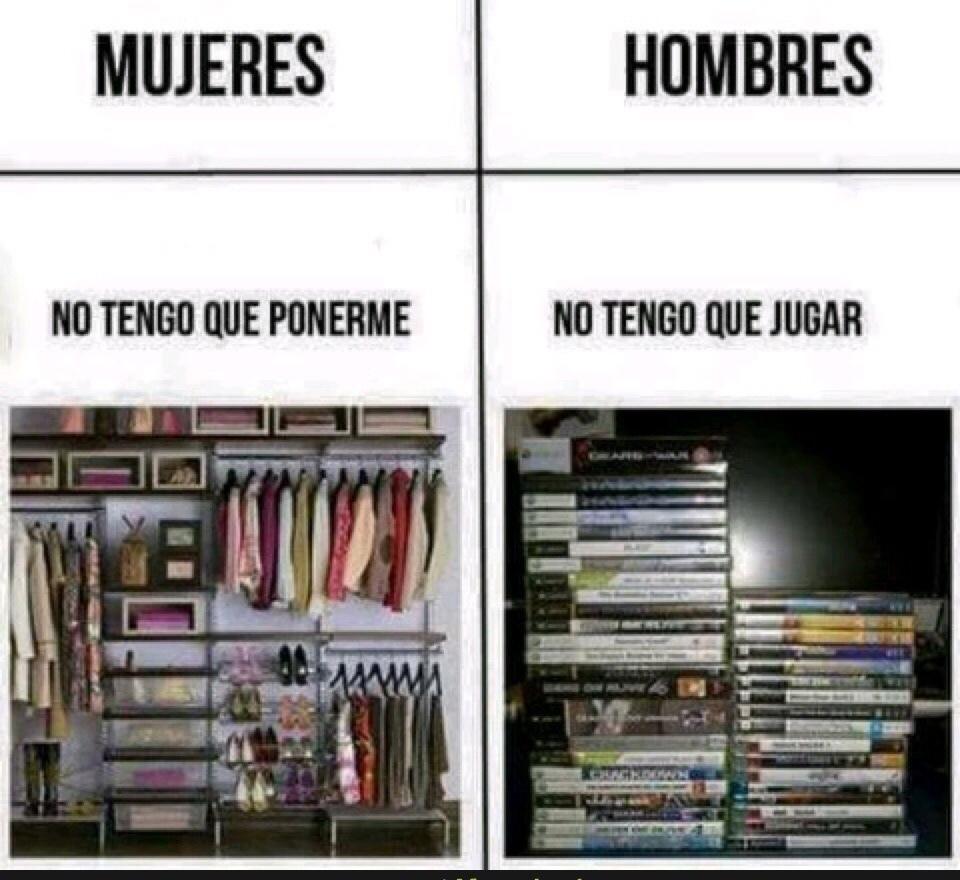hombres y mujeres - meme