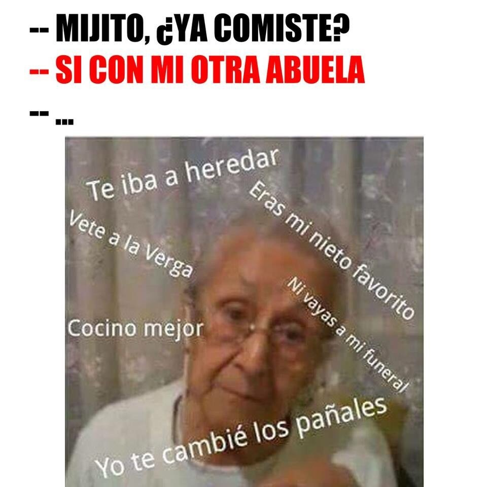Jaja esa abuela - meme