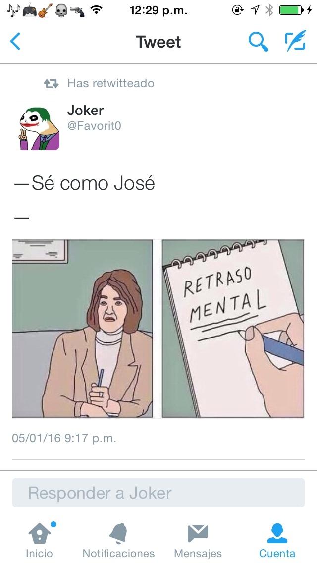 Se como Jose.. (sigueme y te sigo) - meme