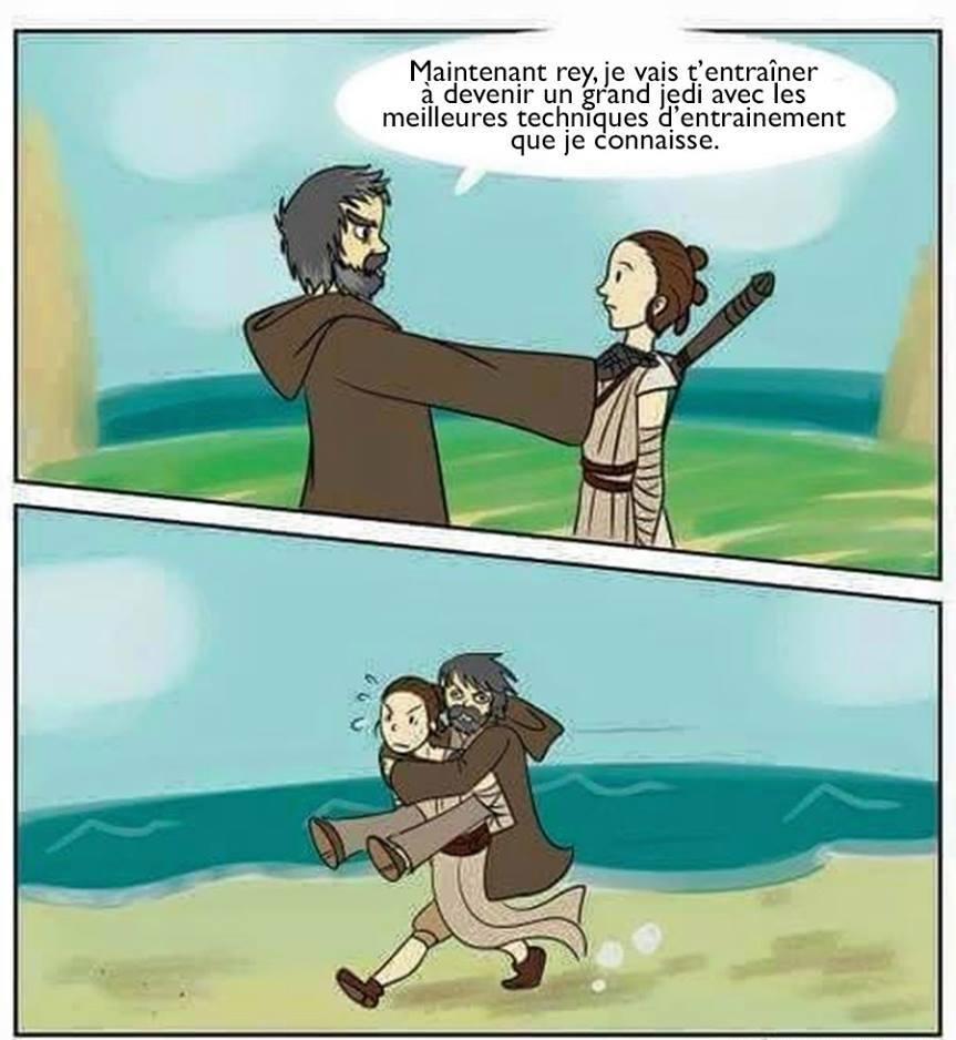 Ah les cours de jedi de Master Yoda - meme