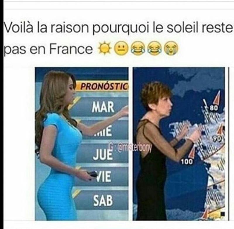 La météo française - meme