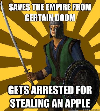 The title is criminal scum - meme