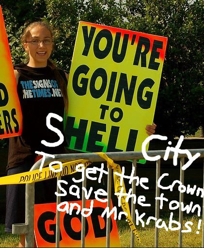 Title goes to shell city - meme