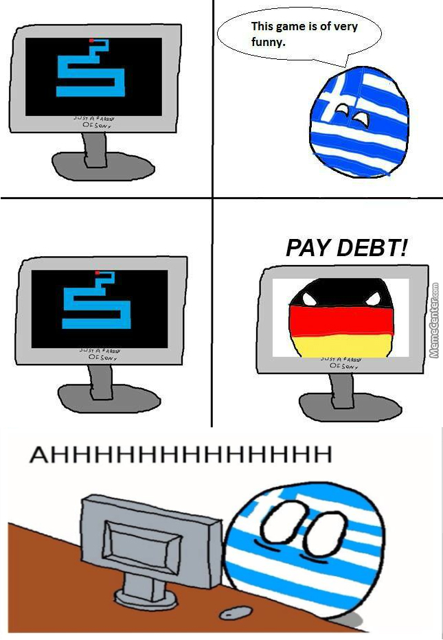 Greece can into heart attack! - meme