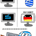 Greece can into heart attack!