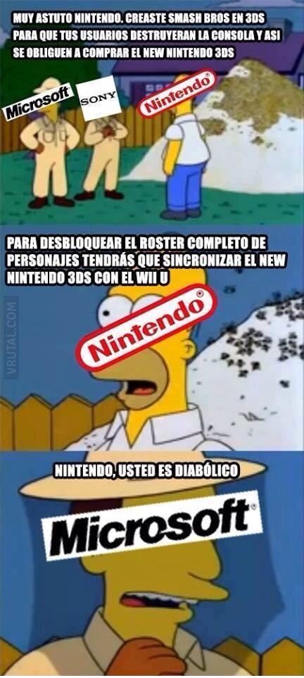 Nintendo es muy astuto - meme