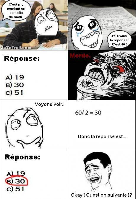 Les exams - meme