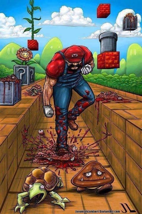 Mario en réalité augmentée - meme