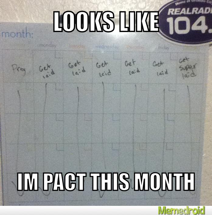 My future calendar - meme