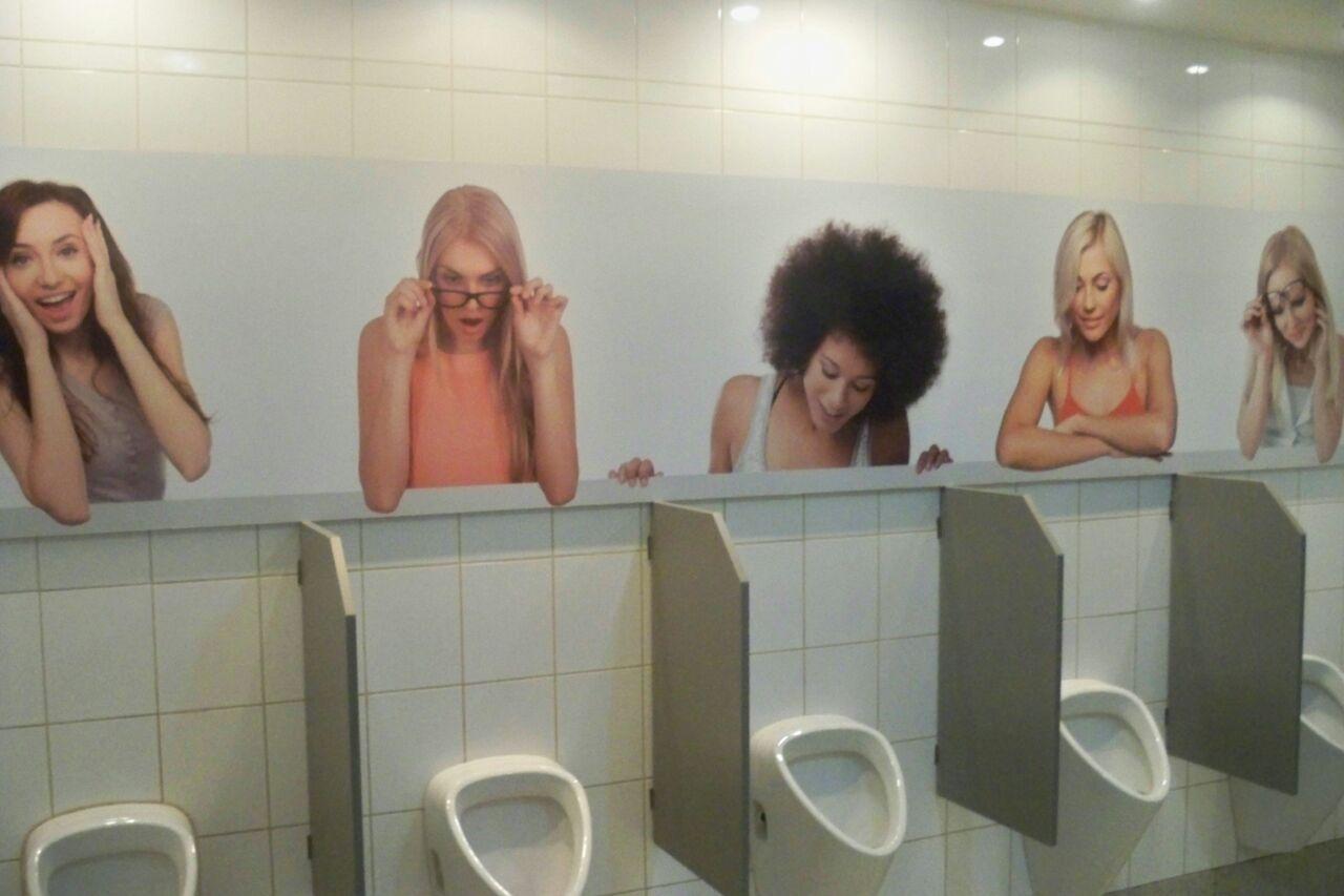Restaurant toilets in Kosice's railway station - meme