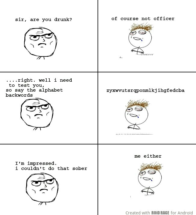 Are you officer drunk? - meme