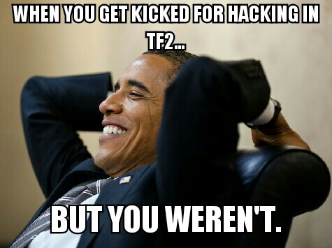 Kicked for hacking confidence boost - meme