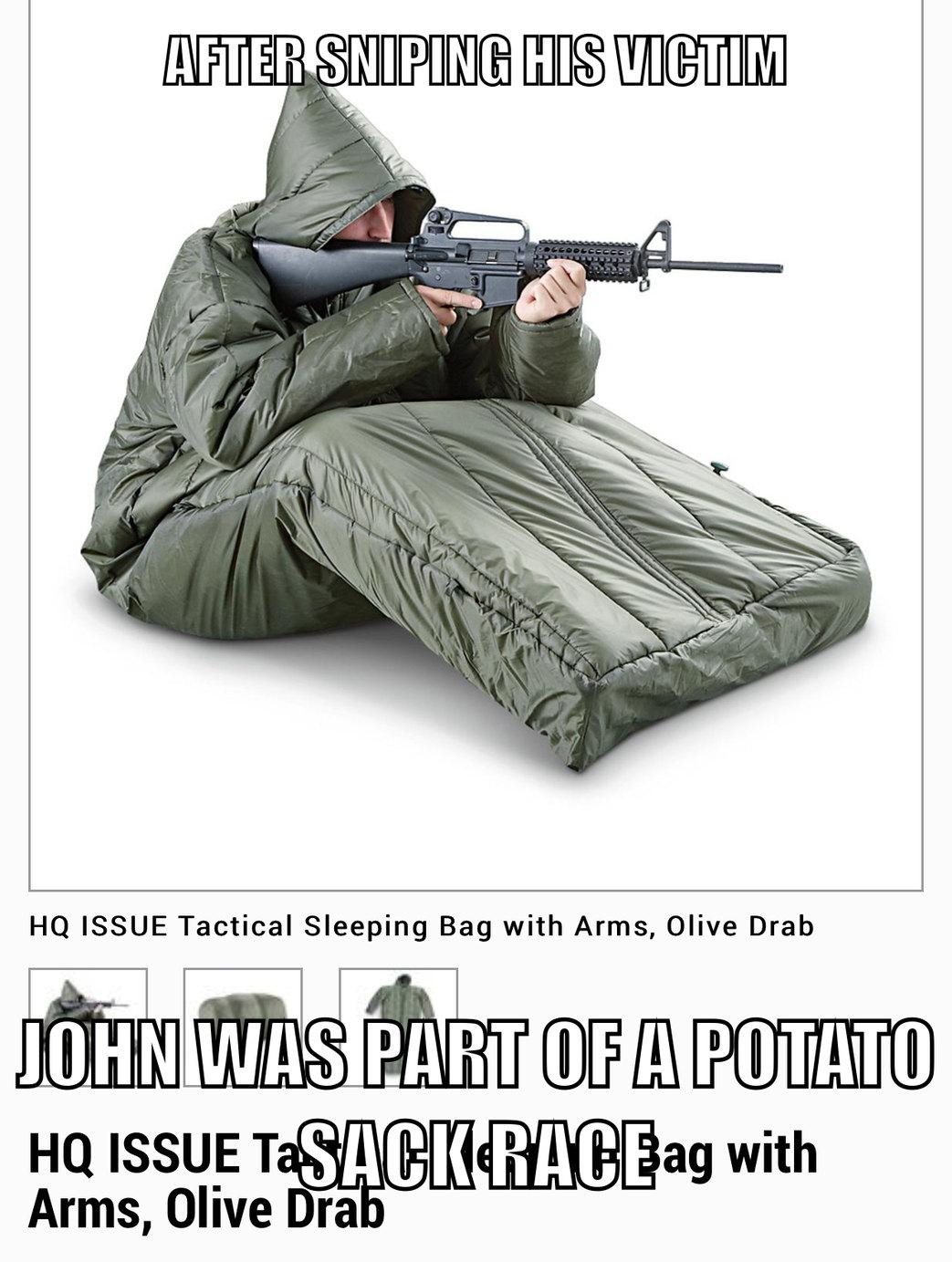 Snuggie sniper - meme