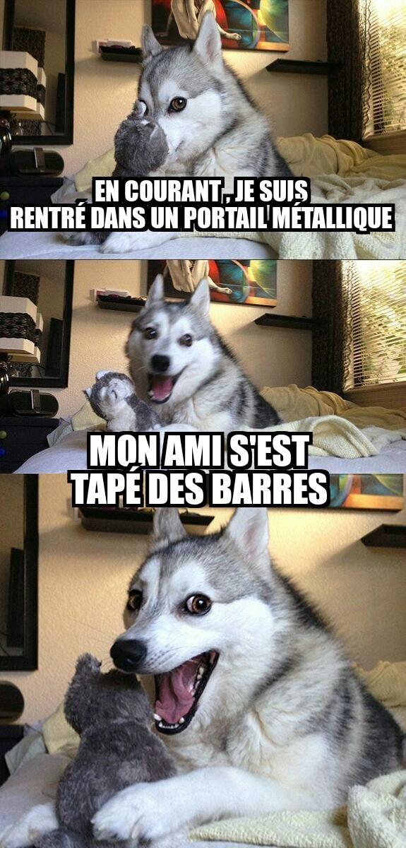 Des barres (de métal ) - meme