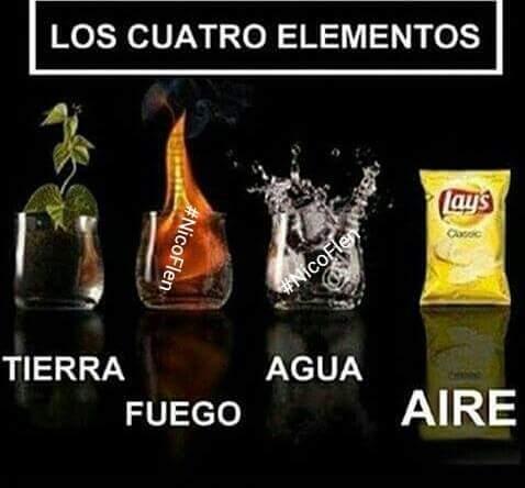 Los 4 Elementos - meme