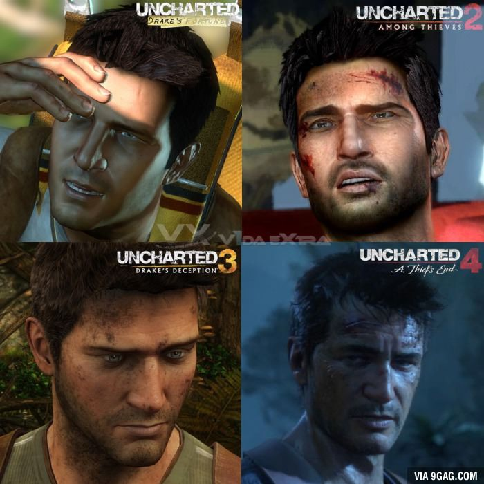 Them graphics in uncharted 1 though, hard to beat - meme